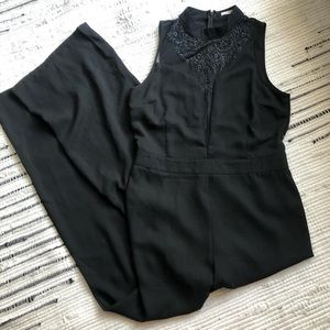 Black high neck jumpsuit